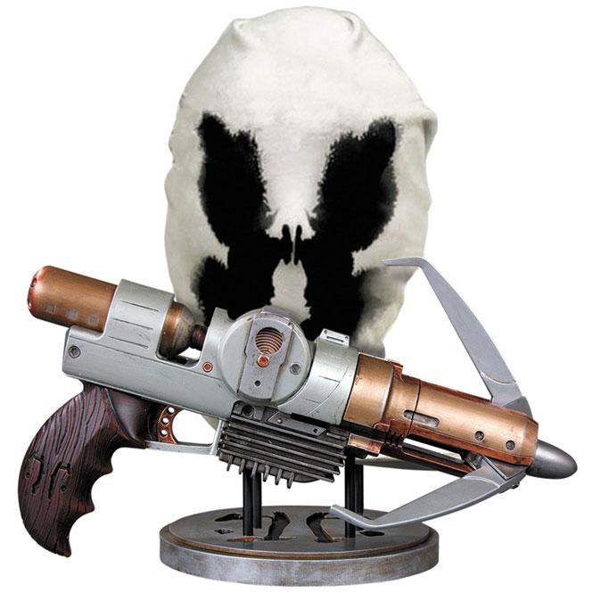 WATCHMEN-Rorschach-Gun-&-Mask-Prop-DC-Direct