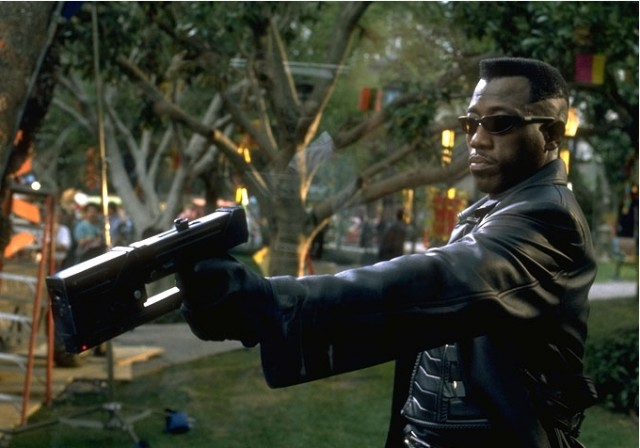 Wesley Snipes as BLADE with his Mac 11 Firearm