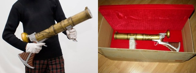 Life-Size-HITCH-HIKER'S-GUIDE-TO-THE-GALAXY-POV-Gun-Prop-Replica-Neca-Toys